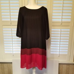 Cold Water Creek Red & Black Dress Size 12